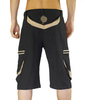 Goa Pant clamdiggers many pockets with flower of life embroidery fully customizable made after order