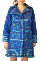 Flower Power coat psychedelic The Beatles costume pure handmade embroidery no print