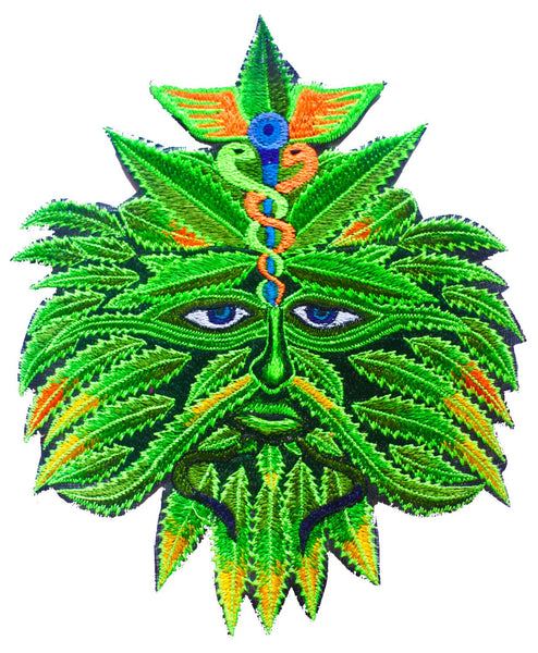 Medical Marihuana Spirit Patch Cannabis embroidery patch 7.5 inch