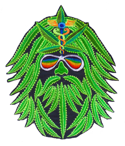 Medical Marihuana embroidery patch 7.5 inch Cannabis Hippie