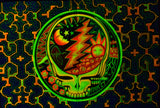 Grateful Dead UV Painting - 90x60cm - handmade on order - fully blacklight glowing colors - psychedelic artwork
