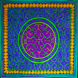 Shipibo Conibo Ayahuasca UV Painting- 100x100cm - fully blacklight glowing colors - psychedelic artwork