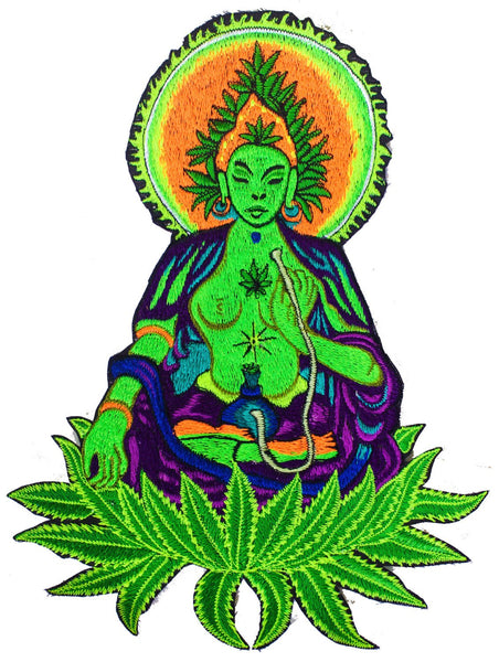 Marihuana Spirit Patch Cannabis embroidery shisha weed queen