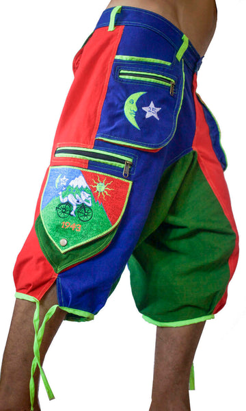 Psychedelic Bicycle Day LSD Pants - 9 pockets with 4 zip locks - cult Albert Hofmann vintage - any size available handmade after order
