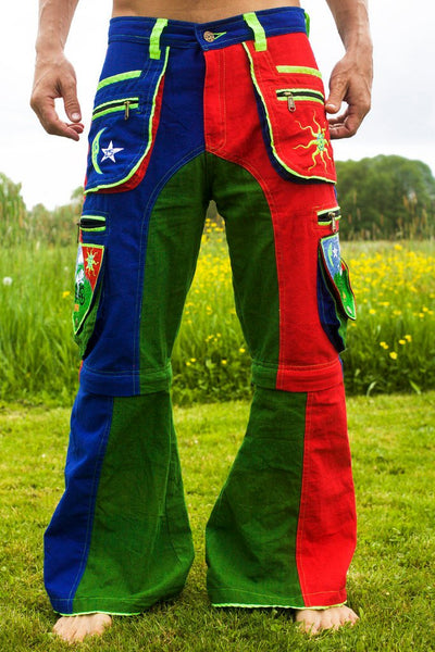 Bicycle Day LSD long Pants - 9 pockets with 4 zip locks - cult Albert Hofmann vintage - any size available handmade after order