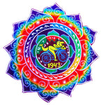 Hofmann LSD Mandala Bicycle Day blacklight rainbow Patch 1943 Psychedelic Fractal Acid Trip Goa Hippie Visionary Medicine Divine Healing