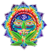 Medical Hemp Buddha Eyes rainbow AUM fractal patch