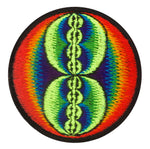 Rainbow Infinity Fractal crop circle patch blacklight embroidery for sew on handcrafted item cropcircle alien art