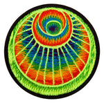 the angel crop circle patch - alien art - blacklight - protection symbol