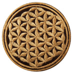 beige flower of life patch small size with variations