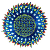 Flower of Life purple star patch holy geometry embroidery sacred information art