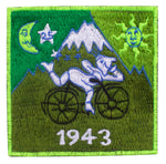 Small Green Bicycle Day LSD Patch Albert Hofmann 1943 Burning Man Psychedelic Acid Trip Hippie Visionary Drug Cosmic Healing Medicine