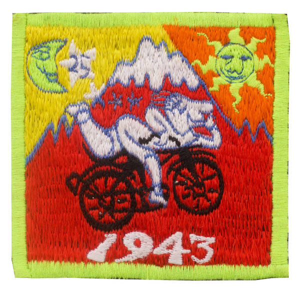 Small Red Bicycle Day Albert Hofmann 1943 LSD Cult Patch Burning Man Psychedelic Acid Trip Hippie Drug Visionary Divine Healing Medicine