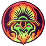 UV peyote starseed patch 4 inch full blacklight active psychedelic design