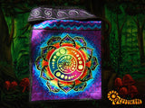 Attributes crop circle shoulder bag blacklight glowing sacred geometry mandala handbag