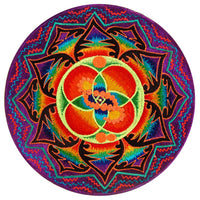 DNA healing crop circle patch flower of life blacklight rainbow mandala shipibo conibo Ayahuasca pattern