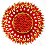 Flower of Life red star patch holy geometry embroidery sacred information art