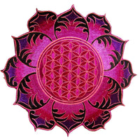 Purple Flower of Life holy geometry patch fractal mandala sacred geometry embroidery art for sew on