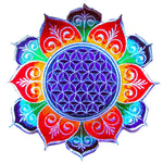Flower of Life rainbow flower mandala holy geometry patch sacred art