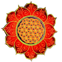 Blacklight Flower of Life patch holy geometry sacred geometry yantra