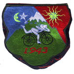 LSD Shoulderbag psychedelic Bicycleday bag goa trance embroidery LSD vintage artwork Timothy Leary handbag