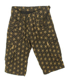 golden Flower of Life Pants with many pockets - intelligent 2 in 1 shorts or long pants - handmade comfortable sacred geometry pattern