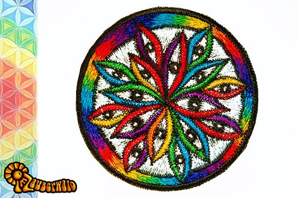 1000 eyes patch - goa trance - hippie - visionary art