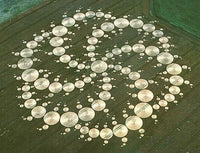 Milk Hill cropcircle patch - alien art embroidery - blacklight glowing fractal - sacred geometry - crop circle was with 300 meter diameter