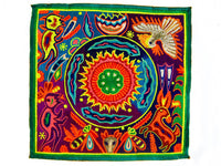 Huichol Mandala Patch Peyote Deer Spirit Shaman
