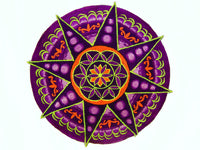 Seed of Life purple star holy geometry patch sacred art