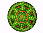 Seed of Life green star holy geometry patch sacred art