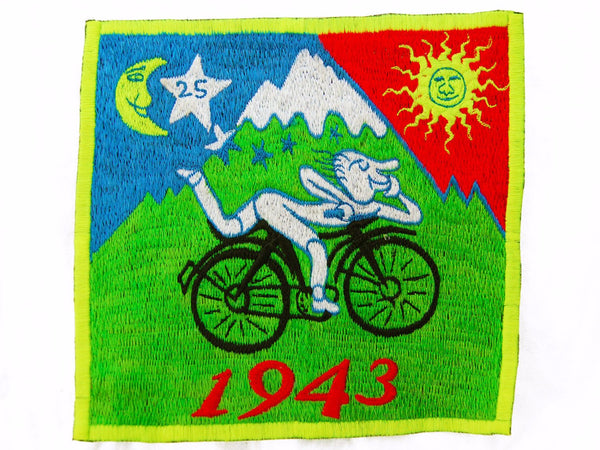 Bicycle Day Albert Hofmann 1943 LSD Patch Psychedelic Hippie Leary