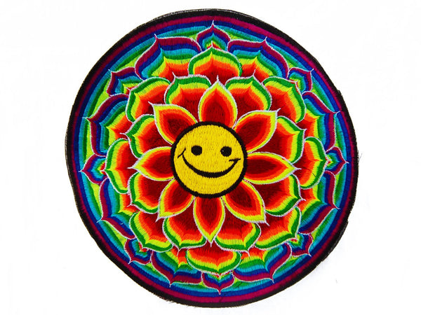 Happy Patch Lotus Mandala Smiley