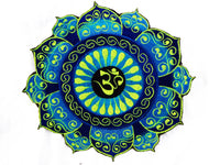 Blue Aum celtic mandala patch