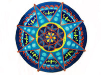 Seed of Life blue star holy geometry patch sacred art