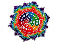 Attributes crop circle rainbow fractal art patch