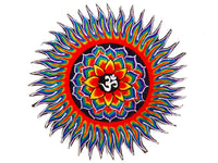 Rainbow Lotus AUM Patch