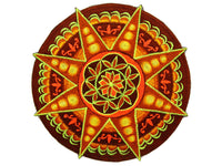 Goldbrown Seed of Life star holy geometry patch sacred art