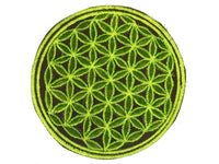 green flower of life patch medium size