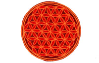 red flower of life patch medium size