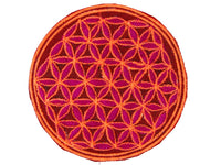 pink flower of life patch medium size