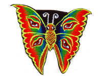 rainbow butterfly patch small size goa trance eyes