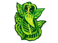 green ganesha patch small size