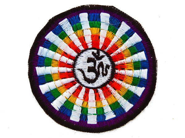 rainbow aum patch small size
