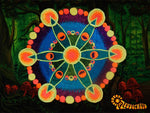 windmill crop circle patch blacklight active flower of life