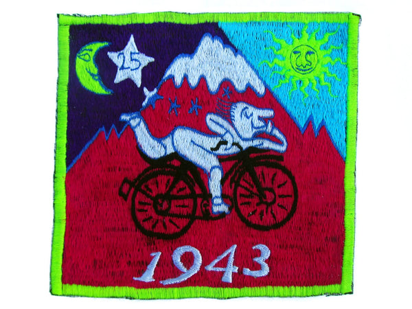Pink Bicycle Day Albert Hofmann 1943 LSD Medium Patch Psychedelic Trip Hippie Drug Timothy Leary Psychotherapy Divine Healing Medicine