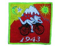 Red Bicycle Day Albert Hofmann 1943 LSD Cult Patch Burning Man Psychedelic Acid Trip Hippie Drug Visionary Divine Healing Medicine