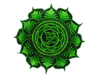Green Aum Mandala Patch Cosmic Music Goa Trance Festival OM