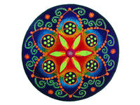 fractal flower of life crop circle torino sacred geometry caleidoscope mirror goa UV blacklight patch
