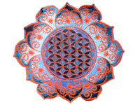 Flower of Life white fractal mandala holy geometry psy patch drunvalo melchizedek